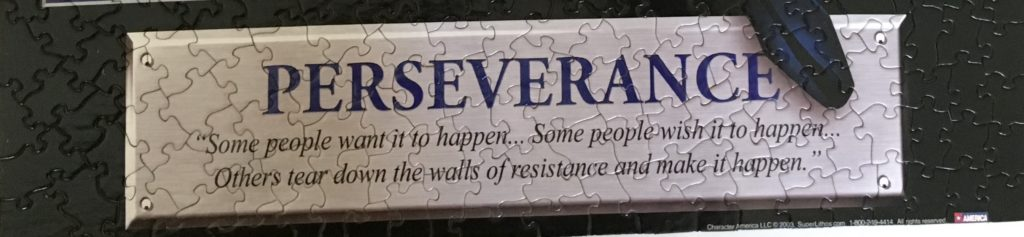 Marvel Wolverine Jigsaw Puzzle Perseverance Quote